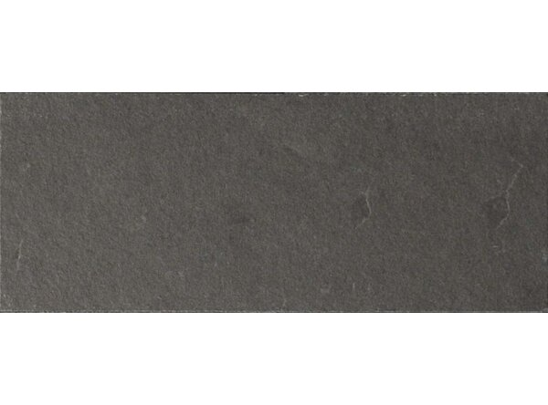 Black Bliss 3 x 8 Slate Field Tile in Black by The Bella Collection