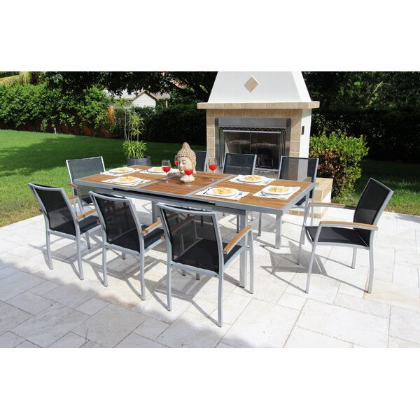 Galliano 9 Piece Teak Dining Set by Bellini Home and Garden