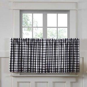 Caulder Buffalo Check Lined Tier Cafe Curtain (Set of 2)