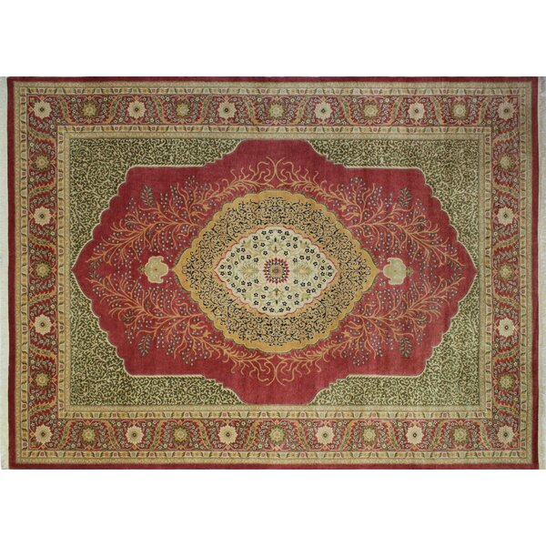 Ankara Mikenn Hand Knotted Wool Rust Area Rug by World Menagerie