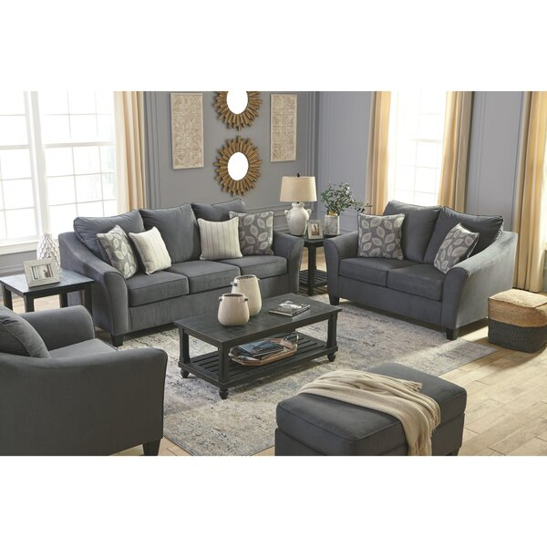 Sanzero 4 Piece Sleeper Configurable Living Room Set by Charlton Home