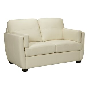 Woodall Leather Loveseat