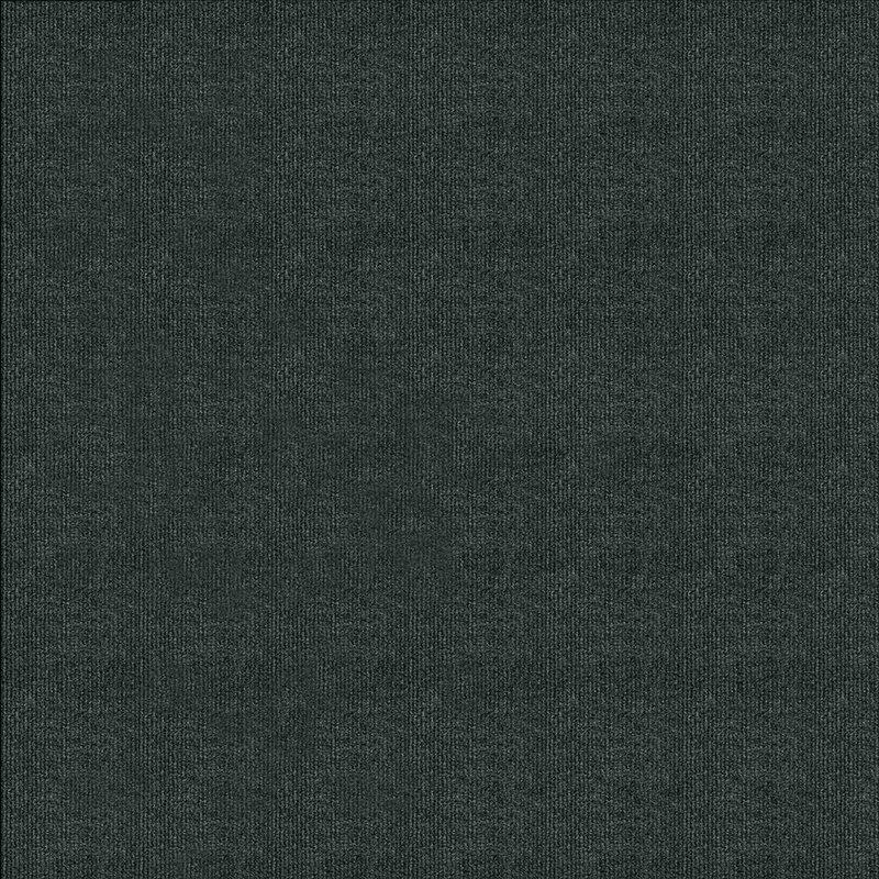 """Ribbed 18"""" x 18"""" Carpet Tile in Gunmetal"""