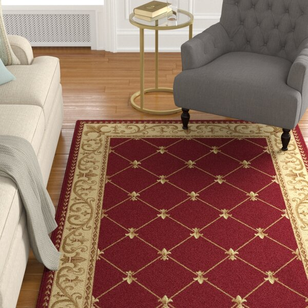 Clarence Red Area Rug by Astoria Grand