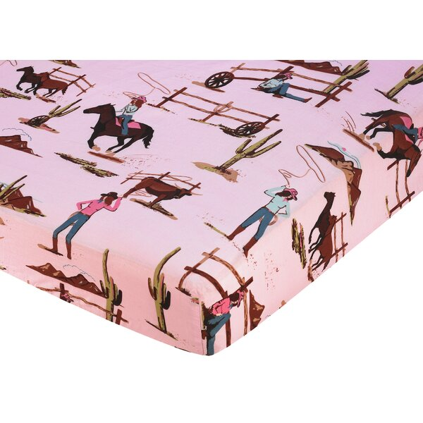 Cowgirl Fitted Crib Sheet by Sweet Jojo Designs