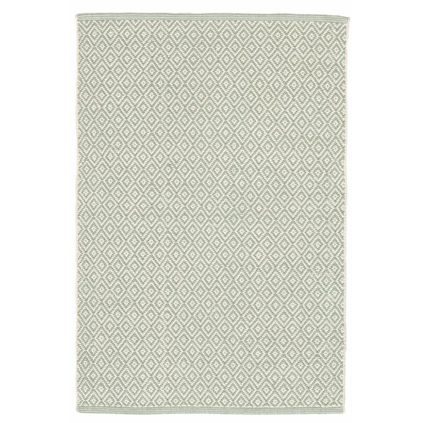 Lattice Cotton Ocean Area Rug by Dash and Albert Rugs