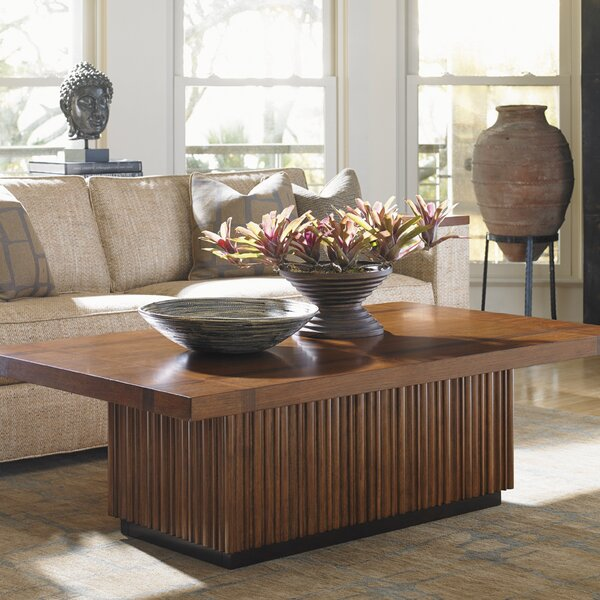 Island Fusion Solid Wood Block Coffee Table By Tommy Bahama Home