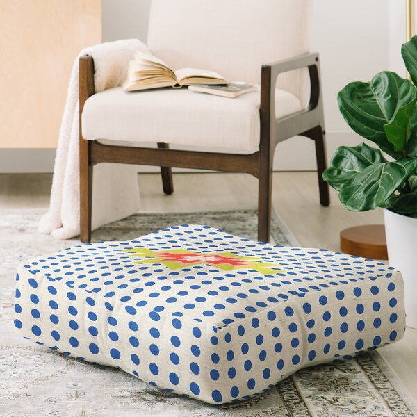 Pattern State Maker Tribe Square Floor Pillow by East Urban Home