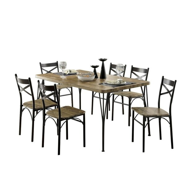 Berklee Wooden 7 Piece Counter Height Dining Table Set by Gracie Oaks Gracie Oaks