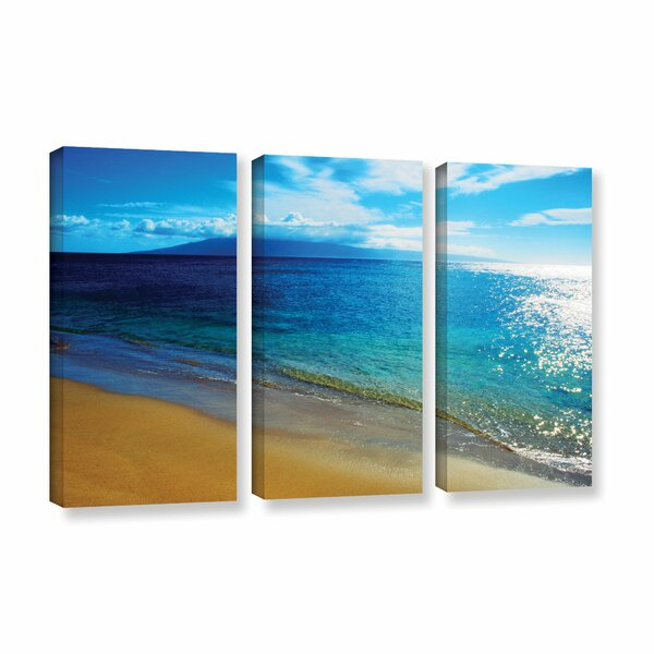 Blue Hawaii by Kathy Yates 3 Piece Photographic Print on Wrapped Canvas Set by ArtWall