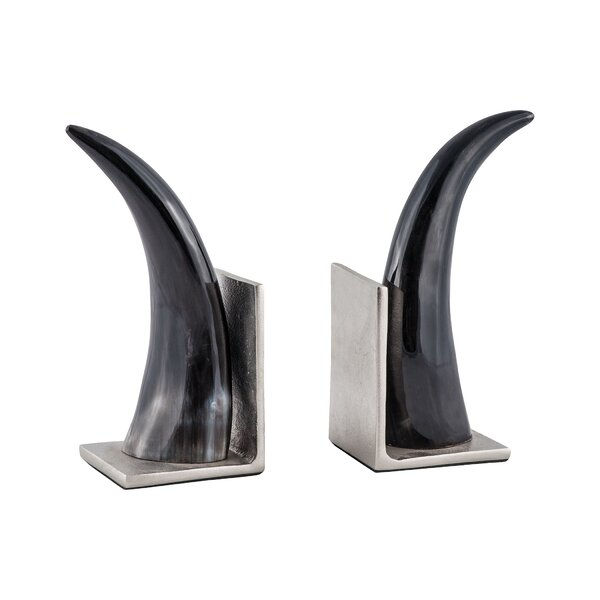 Montagu Horn Bookends (Set of 2) by Union Rustic