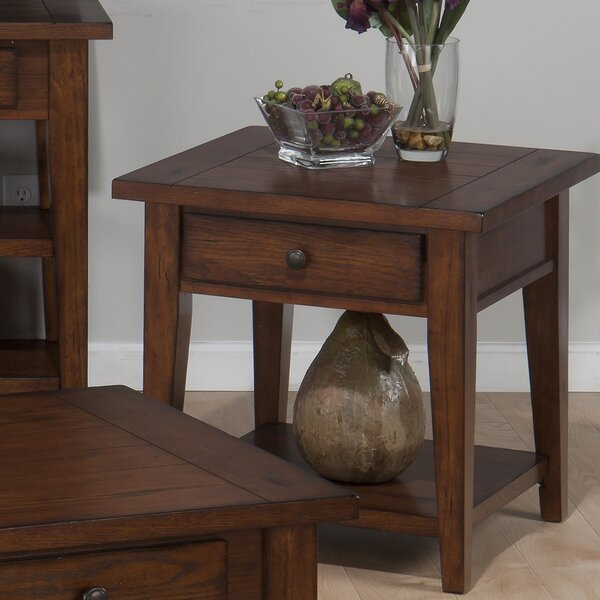 Yemina End Table by Three Posts