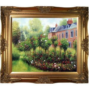 The Garden at Fontenay, 1874 by Pierre Auguste Renoir Framed Painting by Wildon Home ®