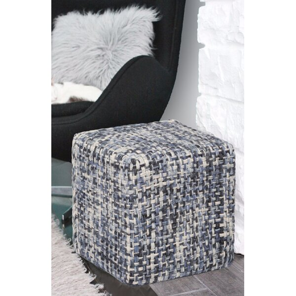 Slavin Handmade Woven Wool Pouf by Breakwater Bay