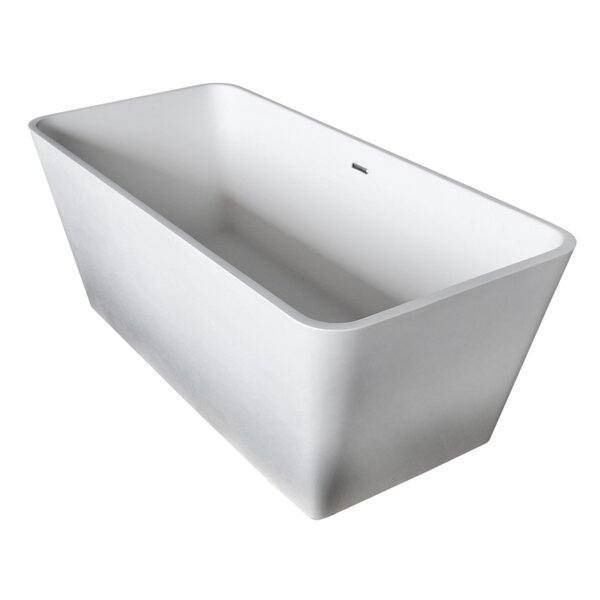 Cenere 58.25 x 26.4 Freestanding Soaking Bathtub by ANZZI