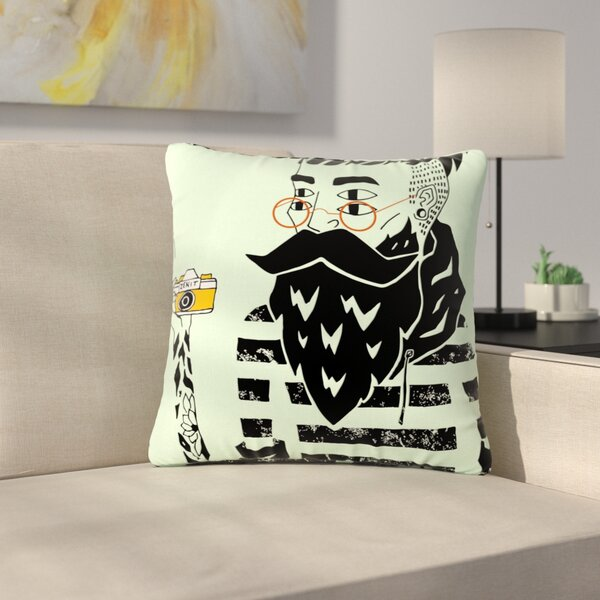 Anya Volk Dreamer 3 Outdoor Throw Pillow by East Urban Home