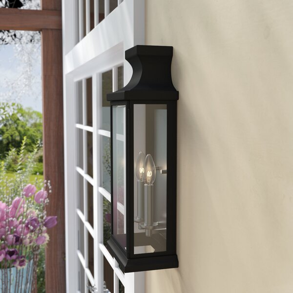 Brinton 2-Light Outdoor Flush Mount by Andover Mil
