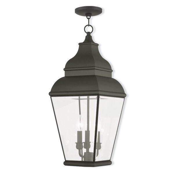 Weisberg 3-Light Outdoor Hanging Lantern by Charlton Home