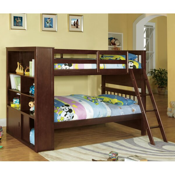 Oliver Twin Bunk Bed with Bookcase by Red Barrel Studio