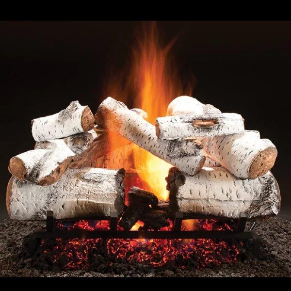 Aspen Vented Natural Gas/Propane Fireplace Log Set By HargroveGasLogs