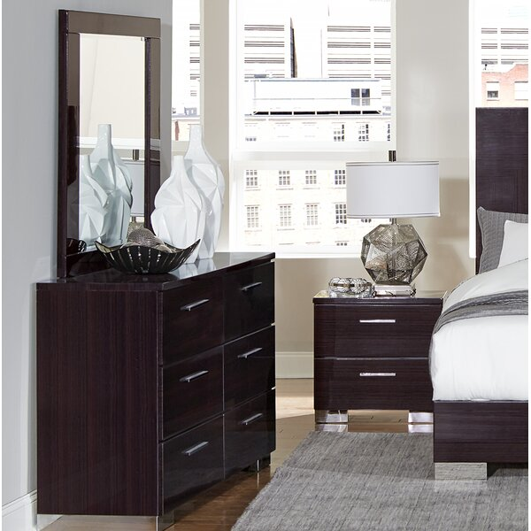 Pearce 6 Drawer Double Dresser with Mirror by Brayden Studio