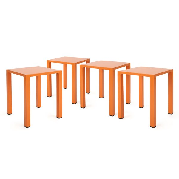 Pekalongan Rust-Proof Aluminum Side Table (Set of 4) by Ebern Designs
