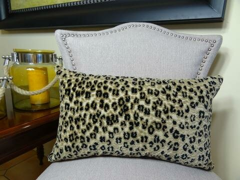 Cheetah Handmade Outdoor Throw Pillow by Plutus Brands