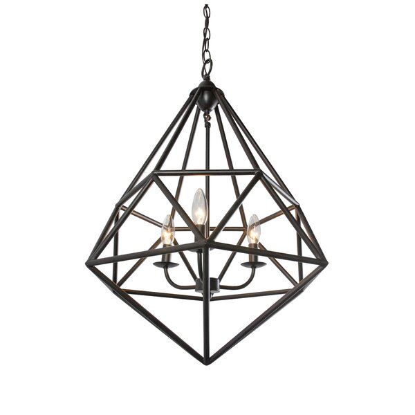 Caruso 3 - Light Candle Style Geometric Chandelier By Trule