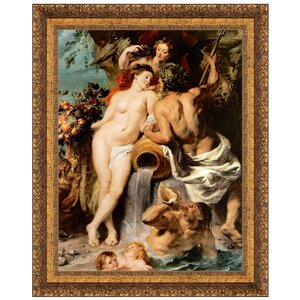 The Union of Earth and Water, 1618 by Peter Paul Rubens Framed Painting Print by Design Toscano