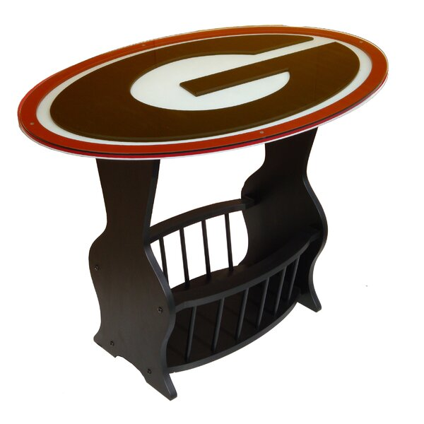 NCAA Glass End Table by Fan Creations