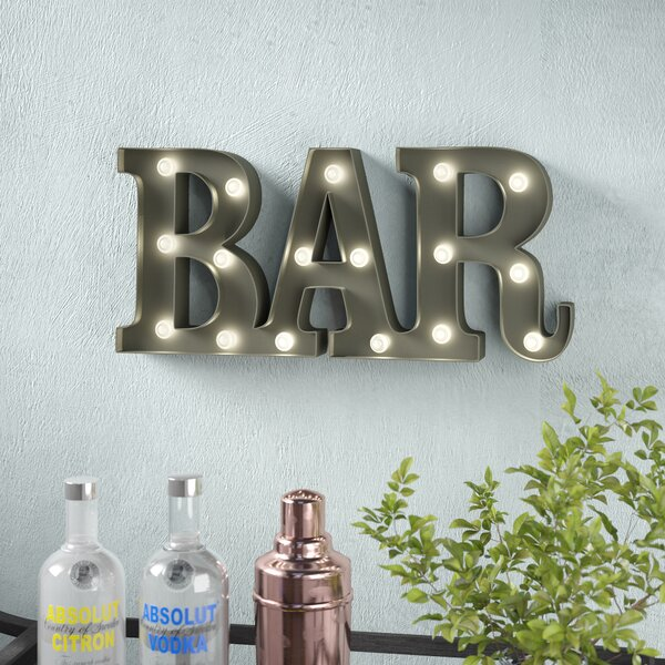 Bar LED Marquee Sign by Wrought Studio
