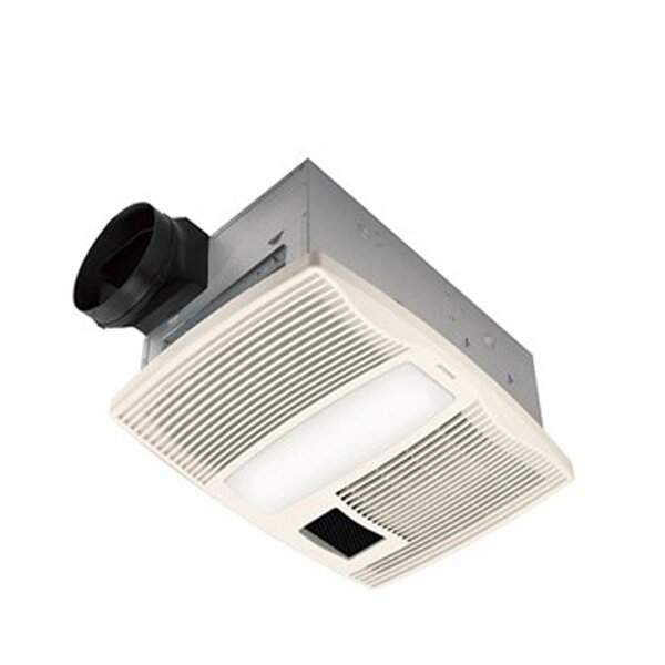 110 CFM Bathroom Fan with Heater and Light by Broan