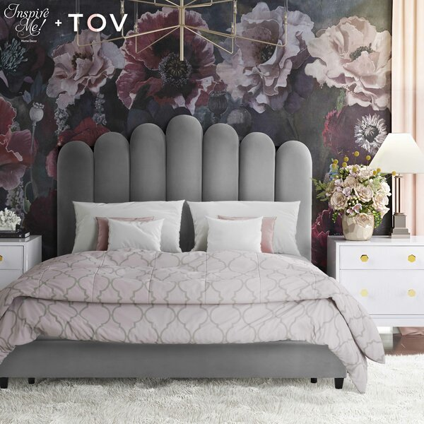 Celine Upholstered Platform Bed by Inspire Me! Home Décor