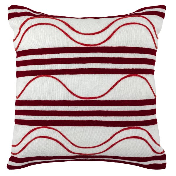 Noonan Embroidered Waves Outdoor Throw Pillow