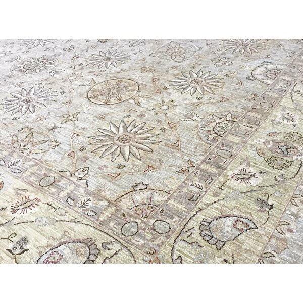 Hand-Knotted Wool Beige/Gray Rug