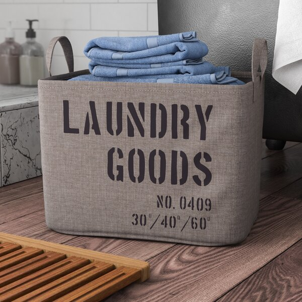 Kordell Army Canvas Laundry Basket by Williston Forge