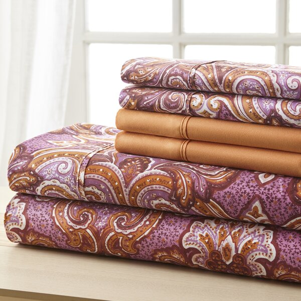 Weyerbacher Orange Medallion Sheet Set by Charlton Home