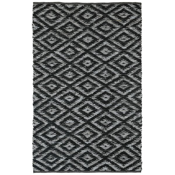 Sandford Hand-Loomed Black Area Rug by Union Rustic