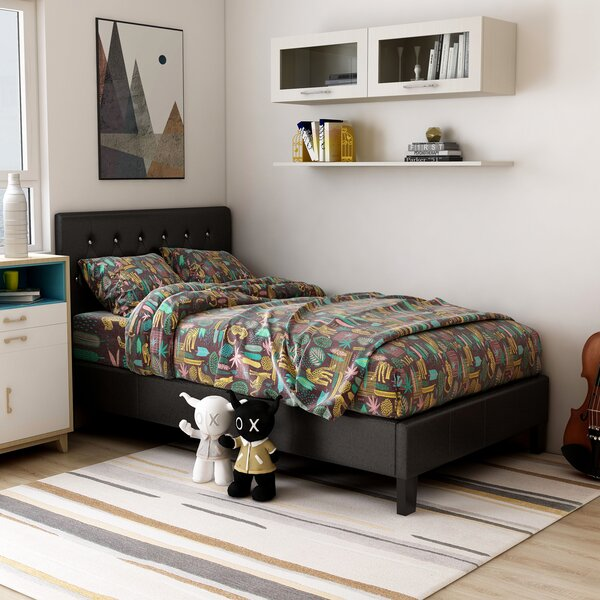 Lisa Upholstered Platform Bed by House of Hampton
