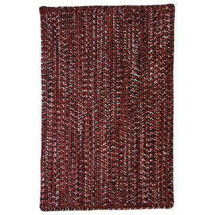 Compare & Buy Aukerman Hand-Braided Red/Black Indoor/Outdoor Area Rug By Isabelline