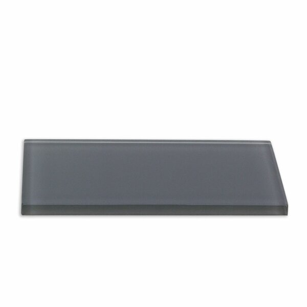 Contempo 3 x 6 Glass Subway Tile in Smoke Gray by Splashback Tile