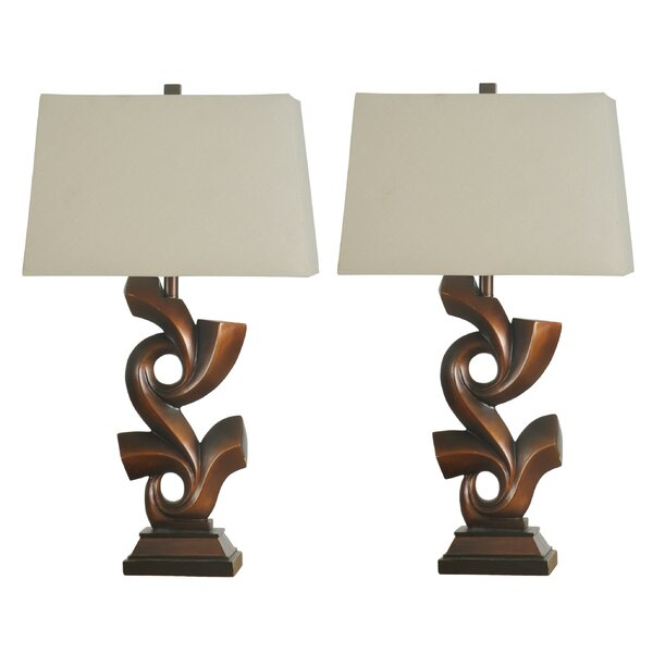 Titian Sculpted 32 Table Lamp (Set of 2) by Immacu-Lamps