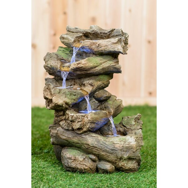 Polyresin Multi Level Branch Fountain with LED Light by Hi-Line Gift Ltd.