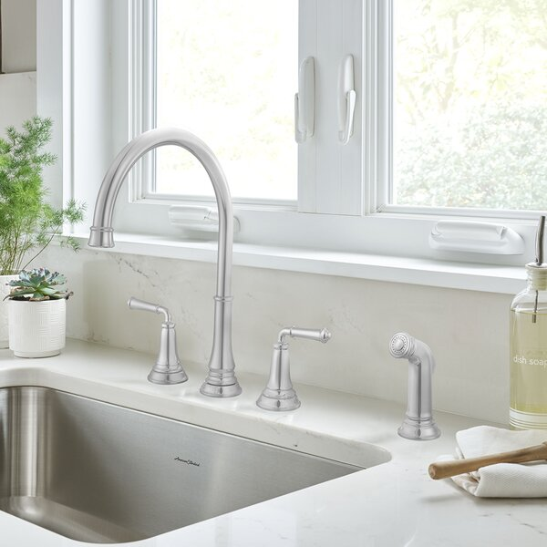 Delancey Double Handle Kitchen Faucet with Side Spray