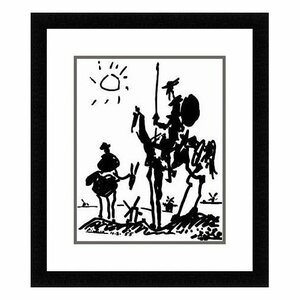 Don Quixote by Pablo Picasso Framed Painting Print by Red Barrel Studio