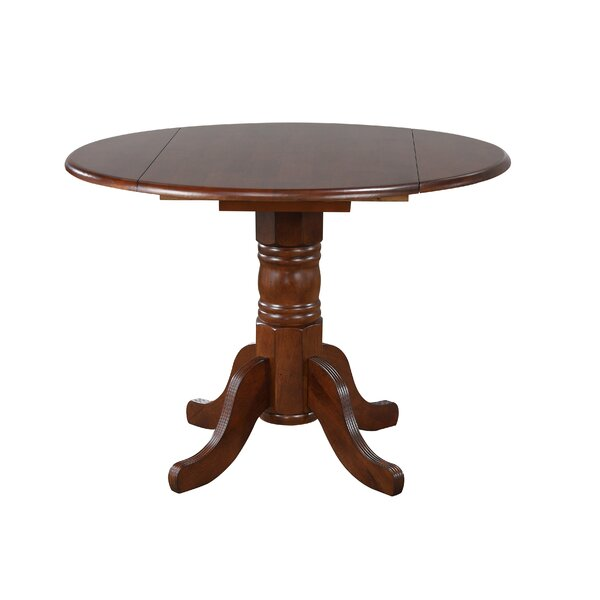Lockwood Drop Leaf Solid Wood Dining Table by Loon Peak