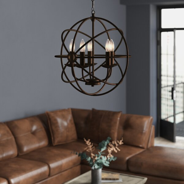 Jalisa 5-Light Candle Style Globe Chandelier By Trent Austin Design
