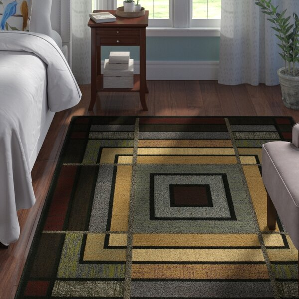 Ganley Blue Ambience Rug by Andover Mills