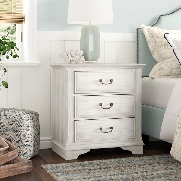 Trenton 3 Drawer Nightstand By Rosecliff Heights by Rosecliff Heights Today Sale Only