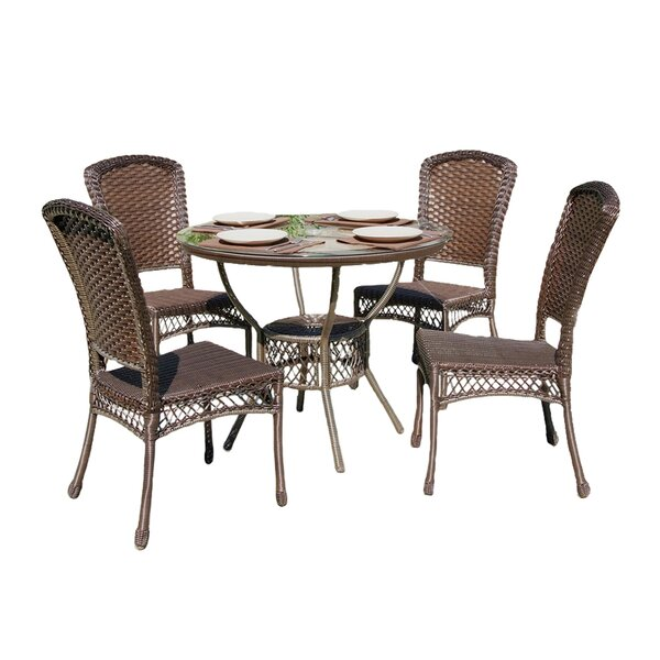 Audrey Casual Outdoor 5 Piece Dining Set by Best Desu, Inc.
